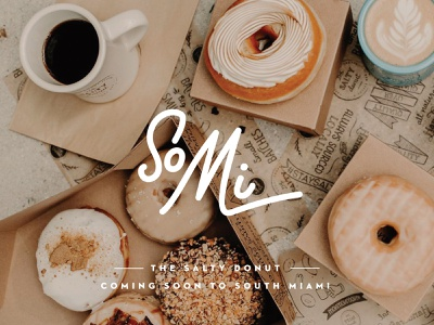 Mark for Donut Shop branding florida salty donut script typography natural donuts south miami somi mark