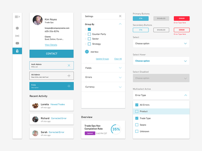 Dashboard Components design system finanace themes dark mode dashboard product design ux ui