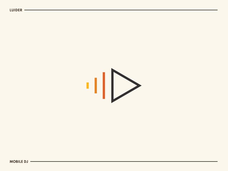 Luider music dj sound adobe illustrator icon mark simple clear modern clean branding identity logo design logo