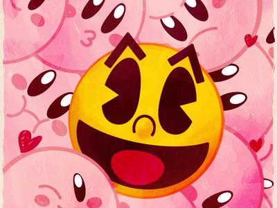 Pacman Y Kirbys San Valentin