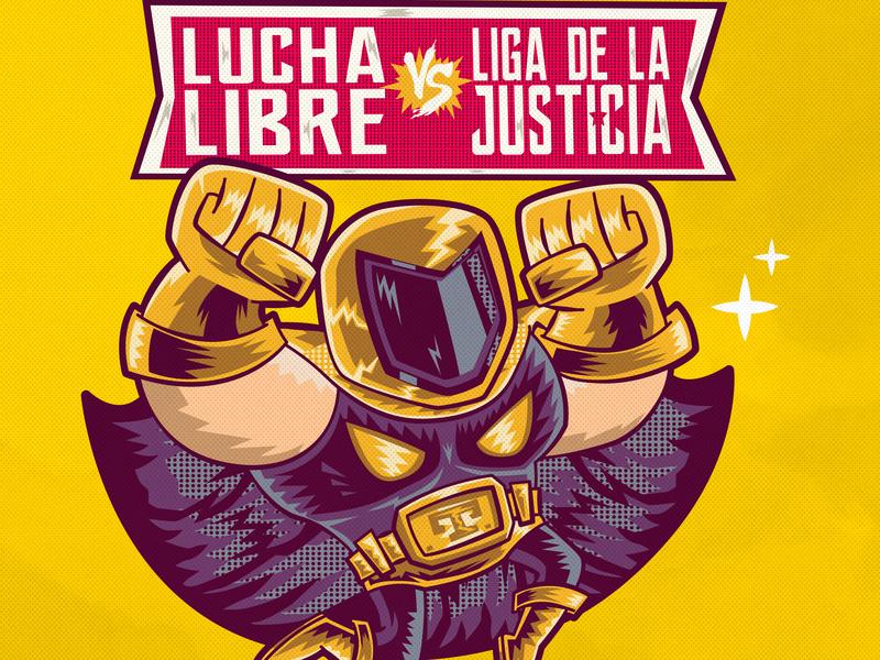 Tinieblas retro ilustracion classic mexico city vector fanart mexico lucha libre
