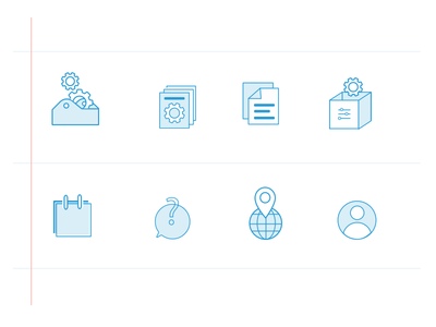 Resource Icons blue print set resources icons