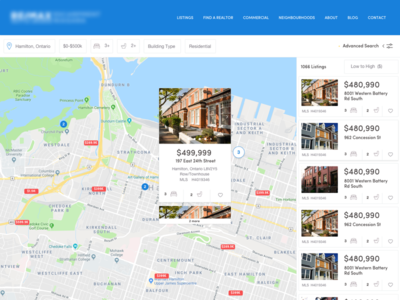 Real Estate Listings Map forms interface ui popup search realtors maps listings map real estate