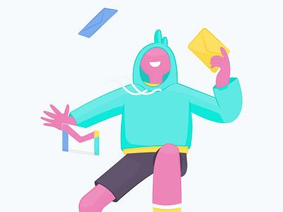 Post guy vector illustration graphic design adobe illustrator