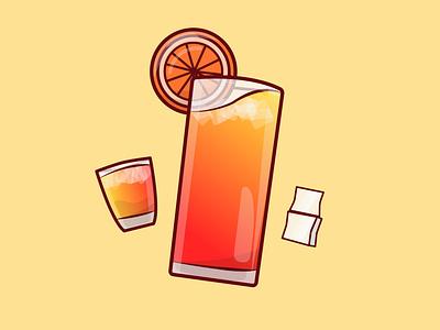 Orange ice cocktail illustration vector graphic design adobe illustrator illustration