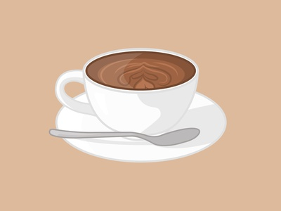 Illustration of a cup with coffee design graphic design adobe illustrator vector illustration