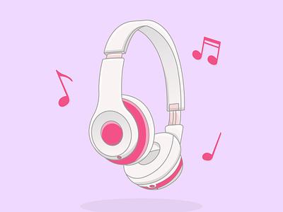 Illustration of cartoon headphones design graphic design illustration vector adobe illustrator