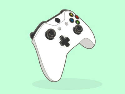 Illustration of a cartoon game controller design adobe illustrator vector illustration graphic design