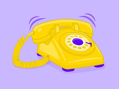 Classic vector illustration of yellow phone design vector illustration graphic design adobe illustrator