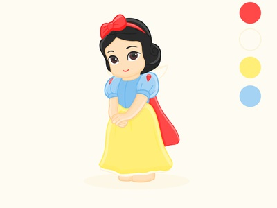 Fairytale character snow white vector design illustration graphic design adobe illustrator