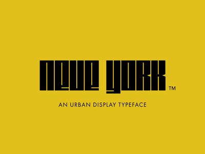 Neue York Typeface