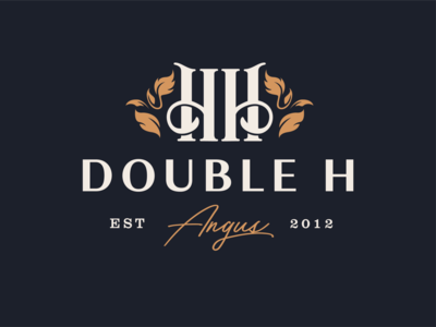 Double H Angus Wedding Logo