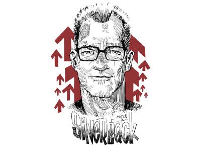 Silverback Steve illustrator bboy