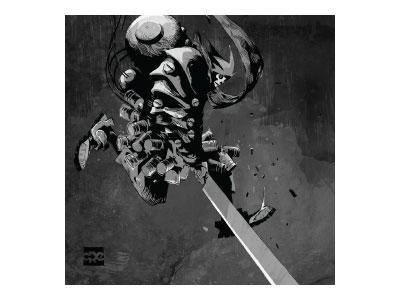 3a Tk Death Mask Heavy Slicer gray 3a illustrator wacom illustration