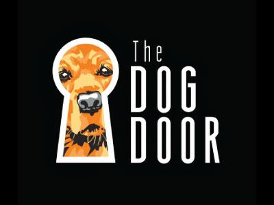 Dog Door illustration identity branding logo