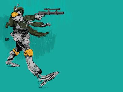 Boba Fett wacom commission adobe boba fett illustration star wars