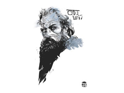 The dead are coming... character sketch bw illustration illustrator got gameofthrones