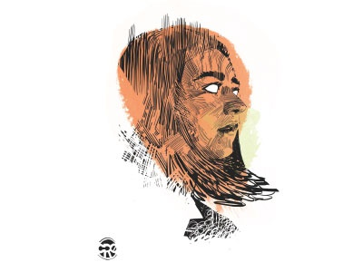 Arya character sketch bw illustration illustrator got gameofthrones