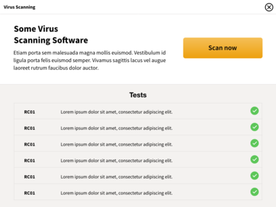 Some Virus Scanning Software