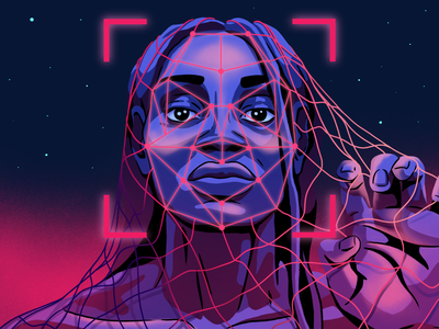 Does Artificial Intelligence have biases? empowering woman black lives matter sexism racism facial recognition software ai artificialintelligence technology editorial illustrator illustration