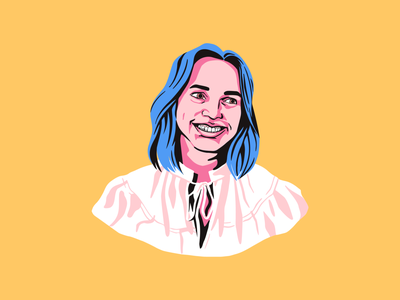 Ask Spotify bold color portrait product design app spotify ui vector illustrator design illustration