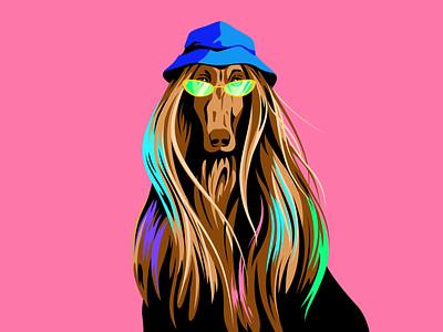 Dogs and bucket hats editorial illustrator vector illustration vector design dog bucket hat fashion street style illustration