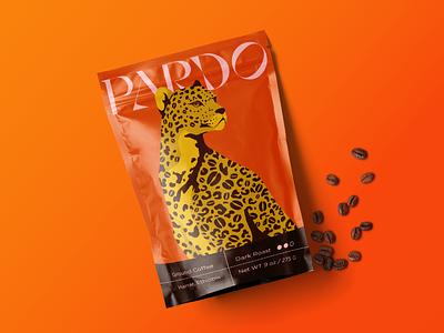 Pardo Coffee vector packaging big cat cat leopard brand design brand illustration coffee branding
