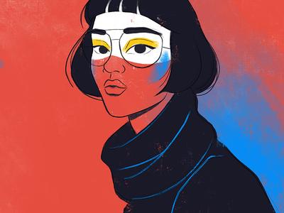 Hi ipad procreate art fashion portrait digital painting painting character character design desing illustration girl