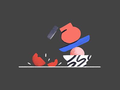 Something went wrong! error 404 vase editorial textures shapes branding design ui illustration