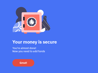 Your money is safe! app wallet safe shapes ux ui crypto currency crypto design illustration