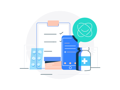 A 24/7 personal doctor customer care chat pharmaceuticals medical app empty states empty state design branding app mobile ux ui chatbot medical