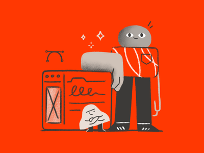 A match made in heaven workshop education procreate illustrator browser shapes poster character character design design ui ux illustration