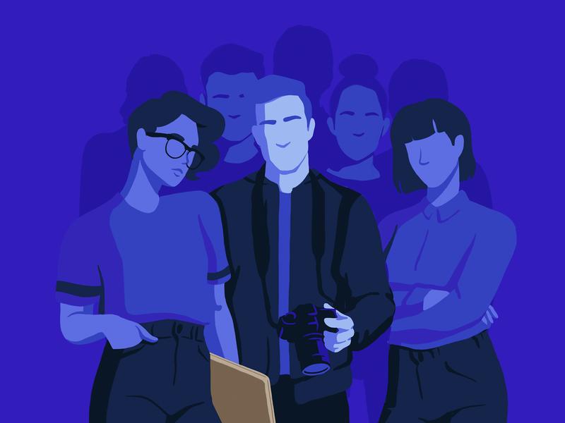 A community of creators crypto blockchain content creation drawing sketch editorial illustration people illustration branding product branding web design ux  ui ui