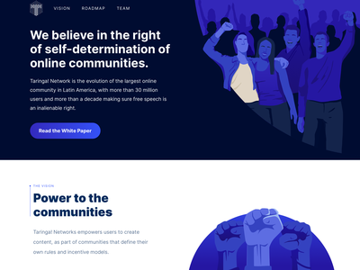 Power to the people blockchain landing cryptocurrency crypto wallet crypto hero character design branding ux vector illustrator ui design illustration