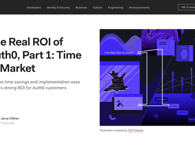ROI on Identity Management auth0 design typography code graphs financial security technology blog investment roi vectors illustration
