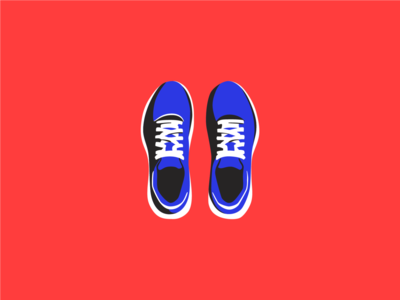 Put on your running shoes auth0 editorial ui illustration spot illustration illustration illustrator vectors health running ui blog sports shoes
