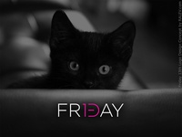 Friday 13th logo design concept