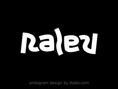 RALEV Ambigram Logo Design