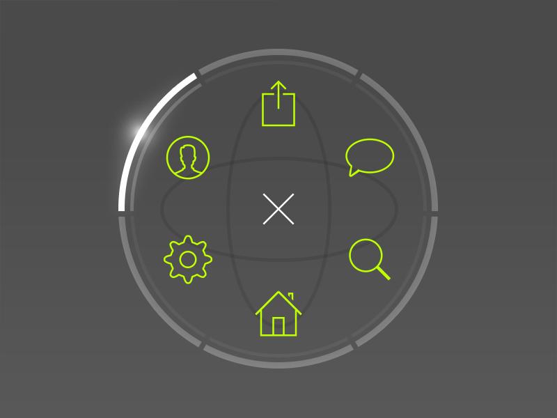 Circular UI  ui ux gui mobile ui design menu navigation icons