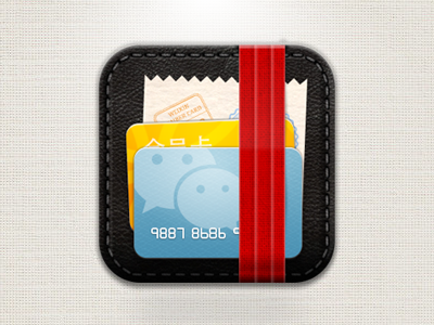 Card Case App Icon ios app icon card leather case