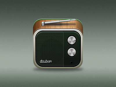 Douban Fm App icon ios app douban radio music icon