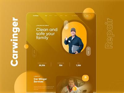 Car Repair Service Landing Page graphic design ux ui branding design