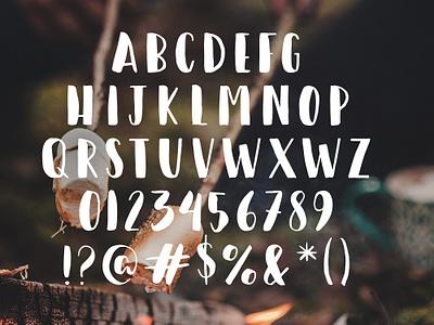Happy Camper Font free design brushlettering lettering type typography download font