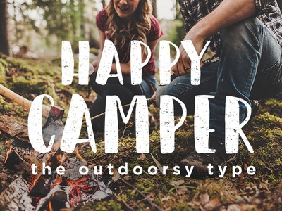 Happy Camper Font by Erika Fisher on Dribbble