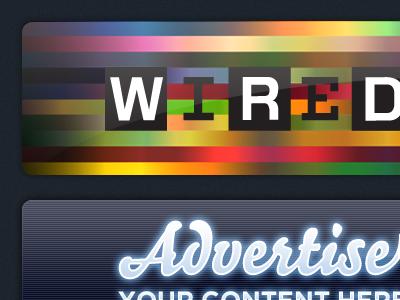 Ad Panels advert blur neon glow stream