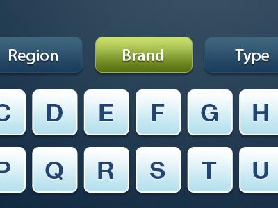 Touchscreen Filter UI kiosk filter azerty interface blue green touchscreen key