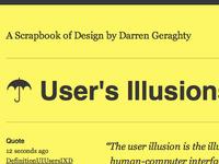 User's Illusions