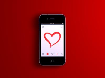 Red Render iphone red ios sketch icons render 3d app hero model love heart