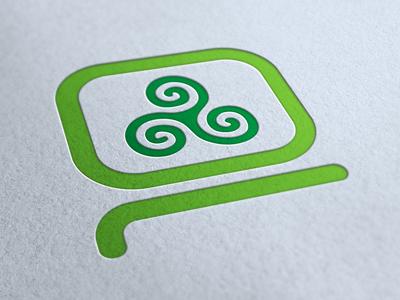 Computer Museum of Ireland Identity identity logo computer icon pictogram celtic green minimal letterpress