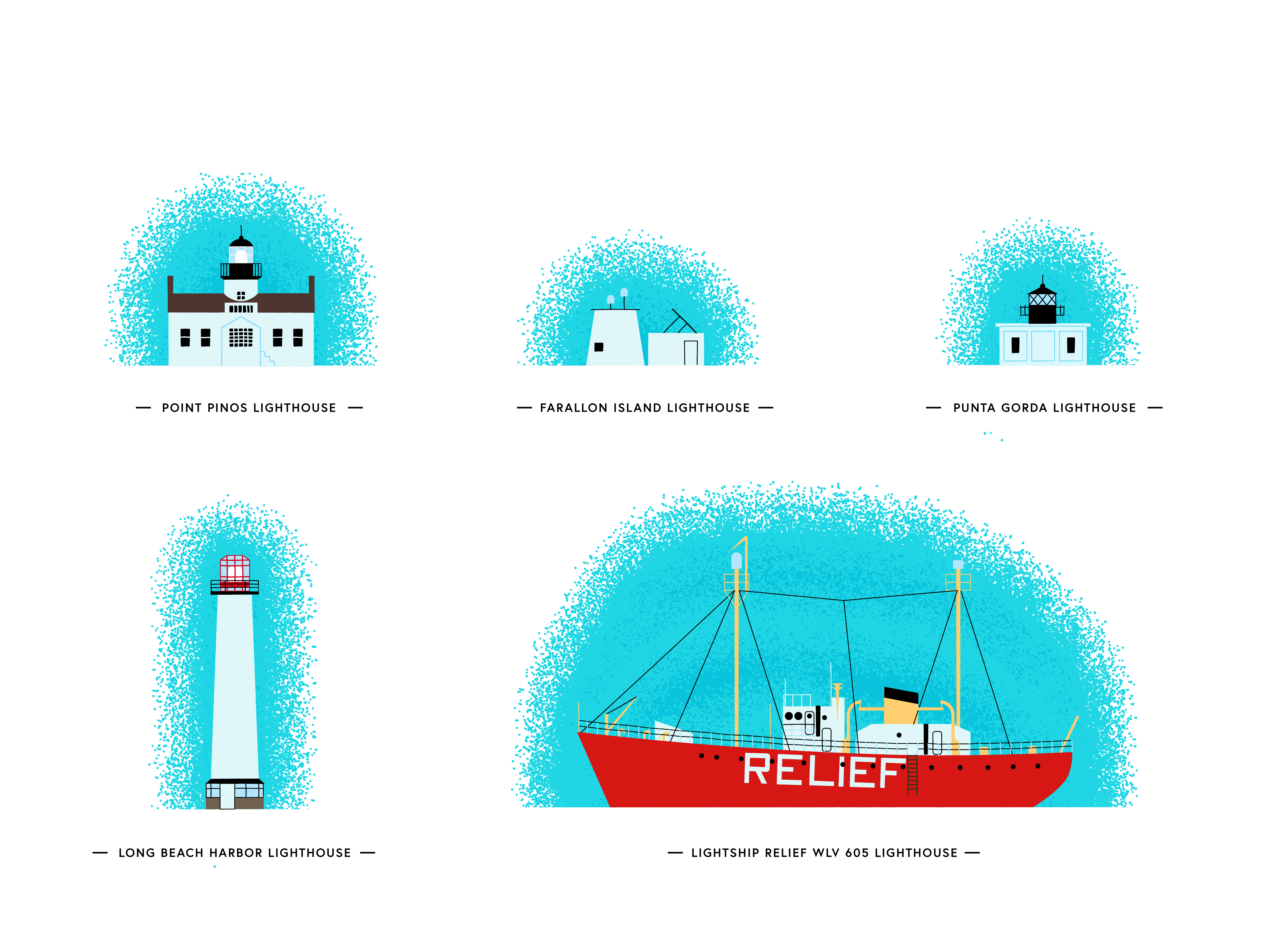 Lighthouses set3
